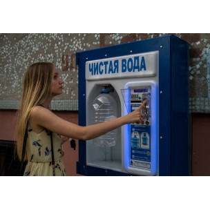 System of sale of purified water in a residential building