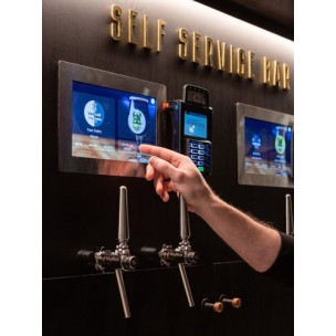 System of bottling beer on tables in bars and restaurants (beer counters)
