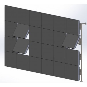 Mounts, brackets and mounting systems for video walls